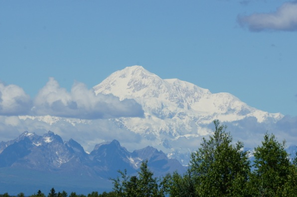 Denali (formerly known as Mt. McKinley), 20,320 feet tall, is the tallest mountain in North America