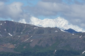 Our first view of Mt. McKinley from a Parks Highway overlook