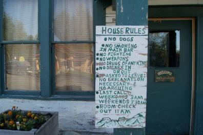 House rules at the historic Fairview Inn
