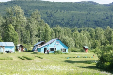 Home of author Mary Lovel in Sherman, Alaska