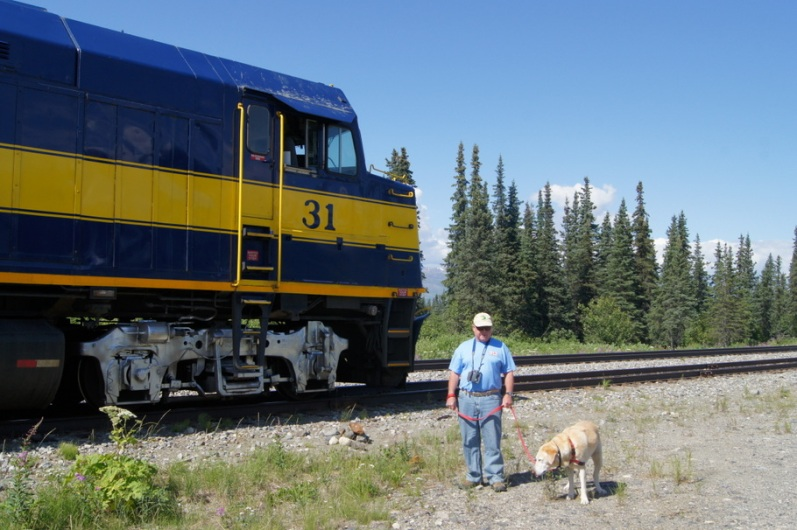 A couple of miles before Hurricane Gulch, we got off the train to stretch our legs
