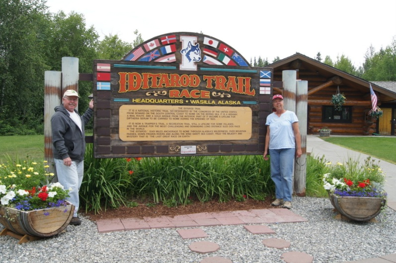 At the Iditarod Trail Headquarters in Wasilla, Alaska