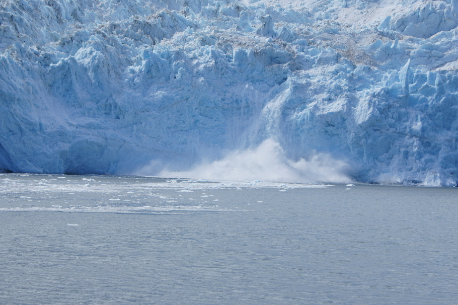 Seeing ice calving on Aialik Glacier on the Kenai Fjords trip from Seward