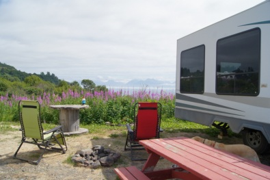 Our campsite overlooks Kachemak Bay