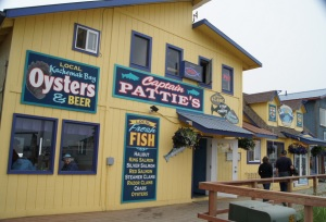 Delicious lunch at Captain Pattie's on the Homer Spit