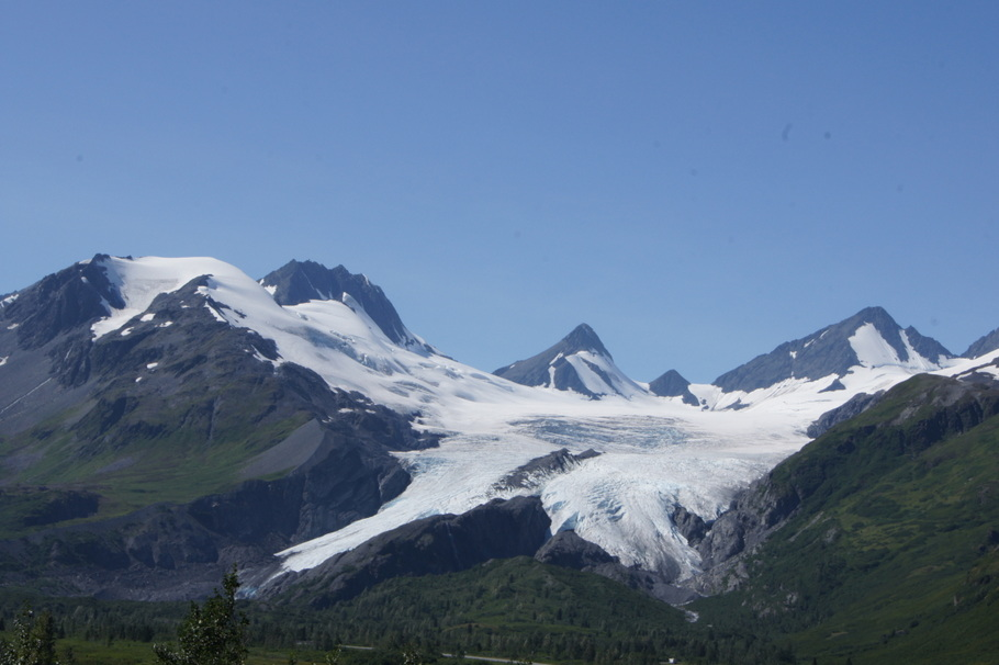 We could see Worthington Glacier from the highway about 30 miles from Valdez