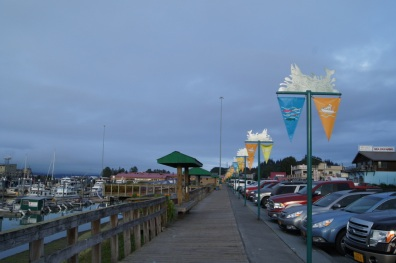 Boardwalk next to the harbor