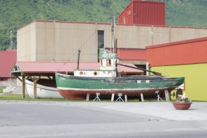 Wooden boat at the Valdez Museum