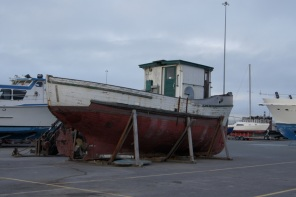 Love the old wooden boat