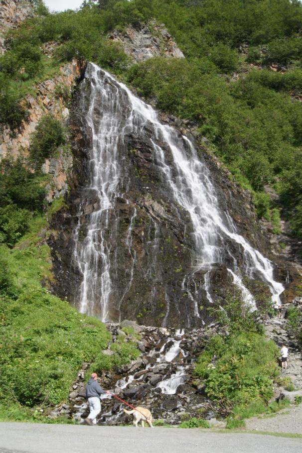 Horsetail Falls waterfall in Keystone Canyon