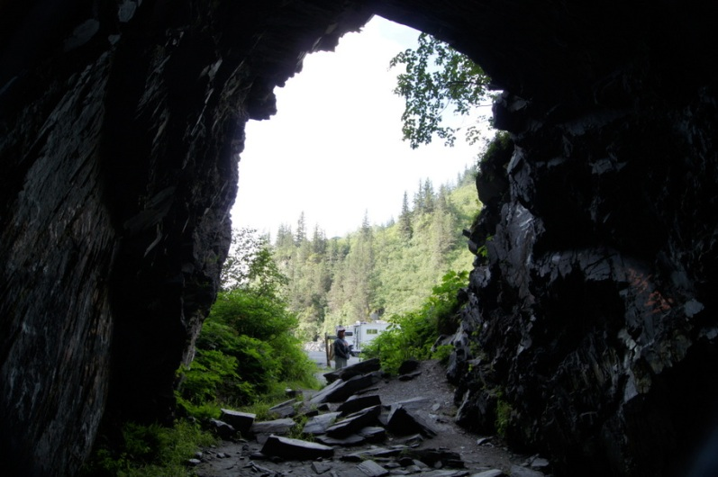 This old railroad tunnel was never finished when a feud interrupted progress and a gun battle took place