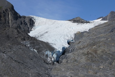 Up close at the Worthington Glacier. With a state recreation area parking area and paved trail to an overlook, this is Alaska's most accessible glacier.