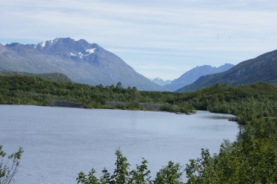 The lake at Worthington Glacier