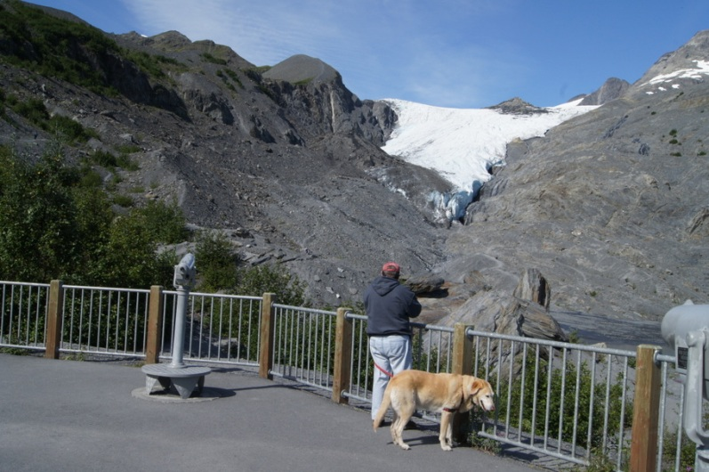 Henry and Blondie at Worthington Glacier