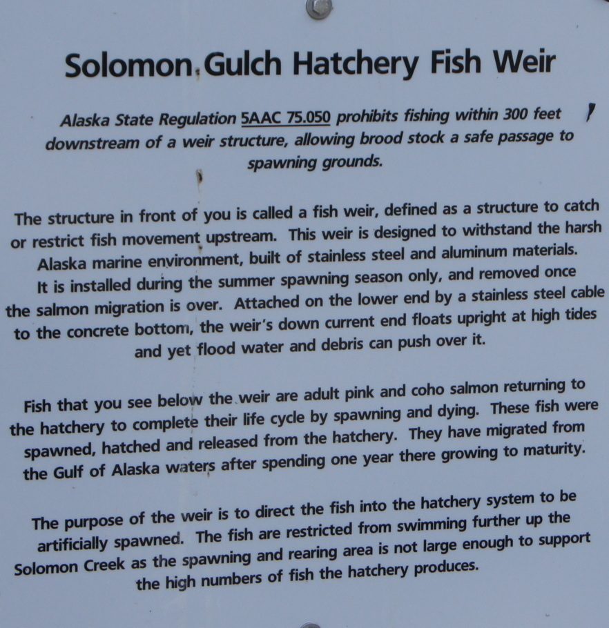 Solomon Gulch Hatchery Fish Weir