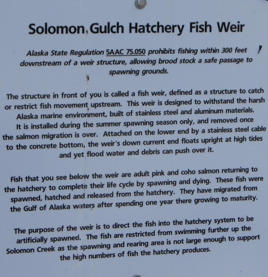 Solomon Gulch Hatchery Fish Weir
