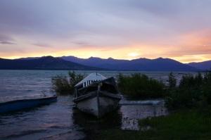 Sunrise at Burwash Landing, Yukon Territory