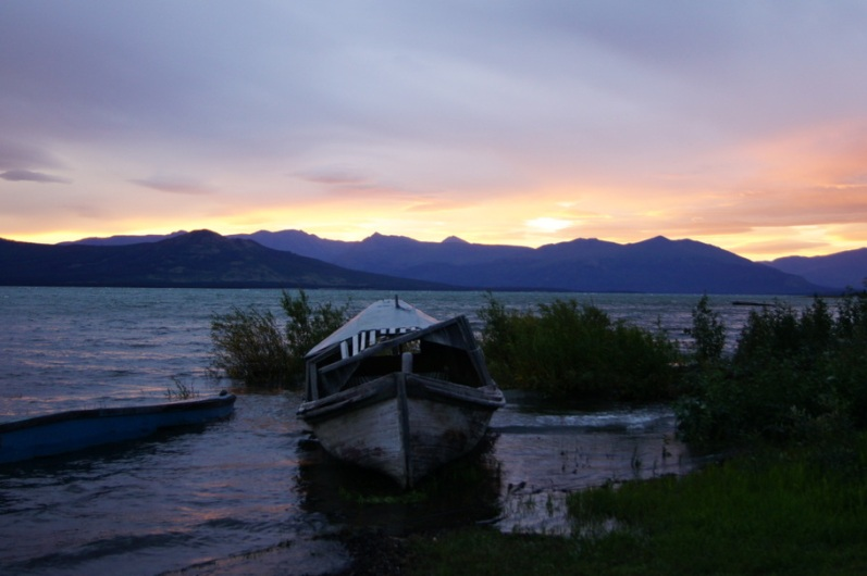 Sunrise at Burwash Landing, Yukon Territory