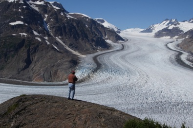 Salmon Glacier in British Columbia about 17 miles past Hyder, Alaska
