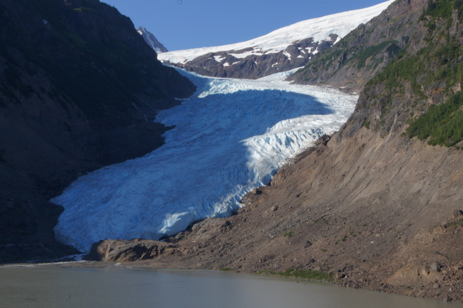 We stopped to look at Bear Glacier after we left Stewart