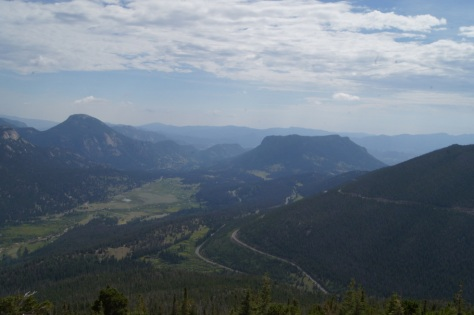 The Trail Ridge Road in Rocky Mountain National Park