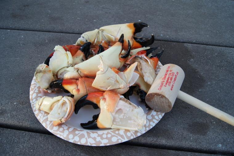 Delicious Stone Crab Claws in Everglades City, Florida