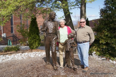 Andy Griffith Statue in Mount Airy, NC