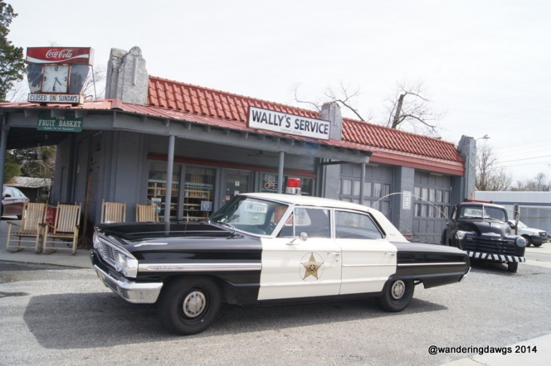 Wally's Service Station in Mount Airy, NC