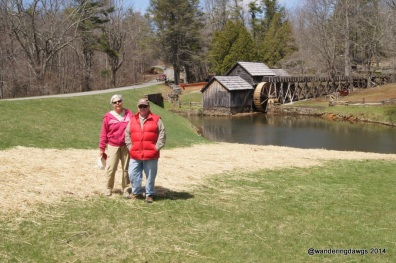 At the Mabry Mill on the Blue Ridge Parkway in Virginia
