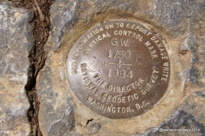 Survey Marker with George Washington's initials from 1750