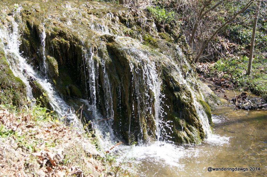 Small waterfall beside the trail at Natural Bridge, Virginia