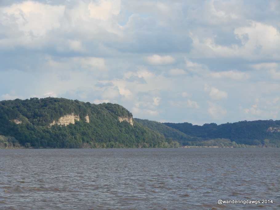 Potosi, Wisconsin side of the MIssissippi River looking toward Dubuque