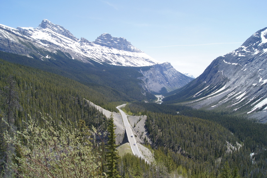 Bridal Veil Falls Overlook on Icefields Parkway, Alberta, Canada