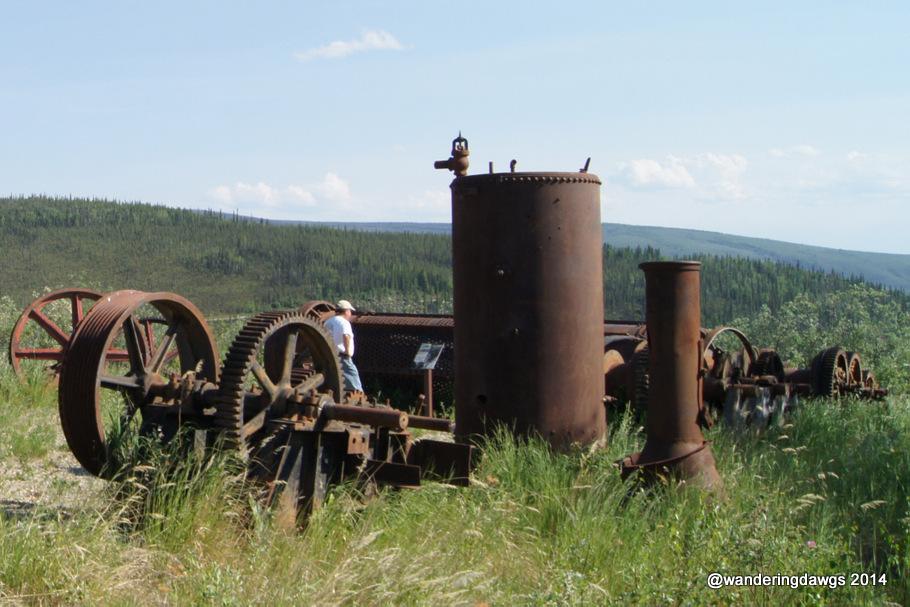 Gold Mining Equipment in Chicken, Alaska