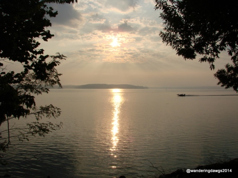 Sunrise over Lake Barkley, Kentucky from Canal COE