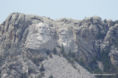 Mount Rushmore as seen from Iron Mountain Road in Custer State Park