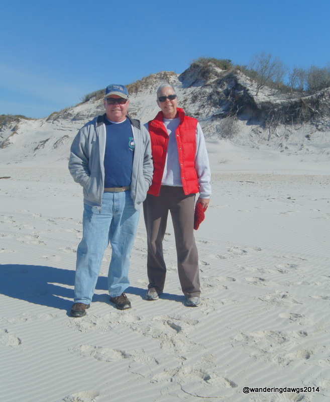 Enjoying a January day at St. Joseph Peninsula