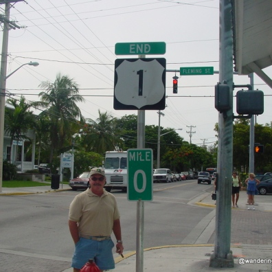 U. S. 1 Mile Marker Zero in Key West, Florida