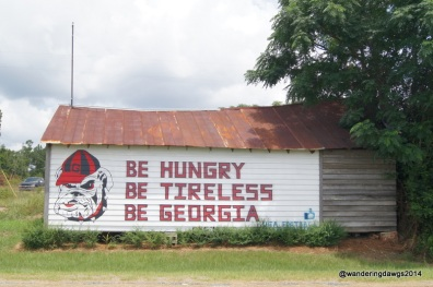 Georgia Football Barn Sign in Tennille, Georgia