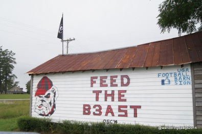 UGA Football Barn Sign 09-26-2014