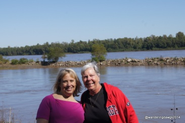 With my friend Jean beside the Mississippi River