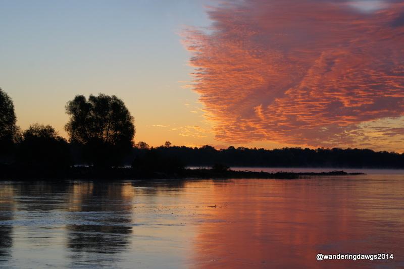Sunrise over the Mississippi River