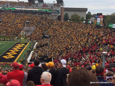 The Georgia fans in red stood out among the gold and black of Mizzou