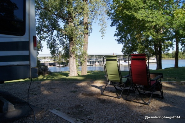 We enjoyed relaxing at our campsite beside the Arkansas River