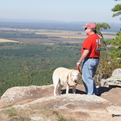 Blondie and Henry at Petit Jean State Park