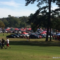 Tailgating on a Golf Course