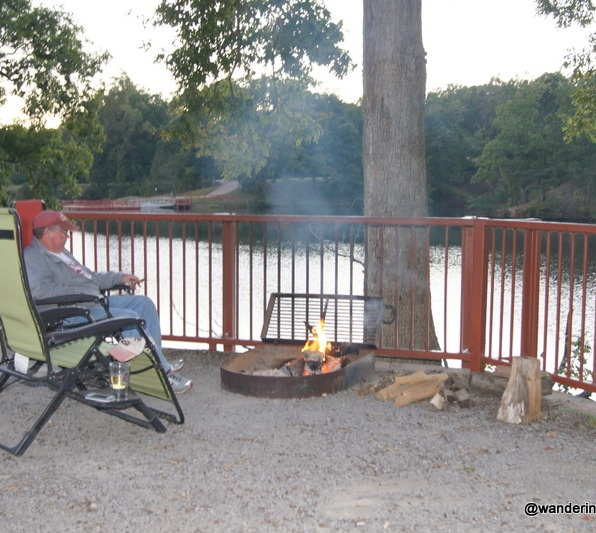 Relaxing at the campsite on Bear Creek Lake