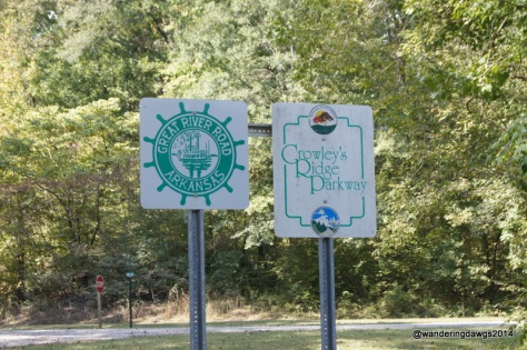 The Great River Road and Crowley's Ridge Parkway run together for a few miles