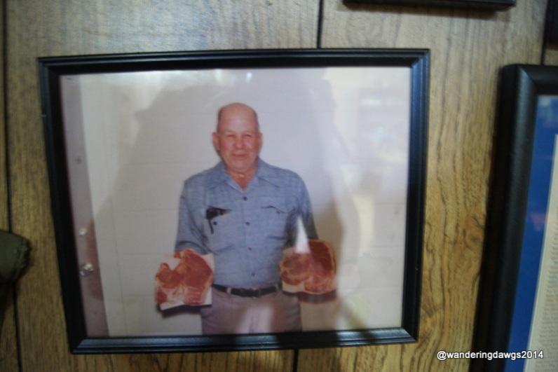 The original Doe with 2 of his famous Porterhouse steaks
