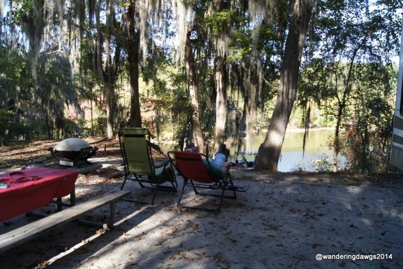 Relaxing at Gunter Hill, Montgomery, Alabama